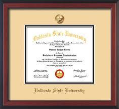 white certificate frame valdosta state u diploma frame cher reverse w vsu seal off white