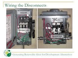 volunteer orientation grid alternatives wiring the disconnects solar inverter utility inverter