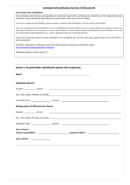 Crs Self Certification Form Individual Fill Online Printable
