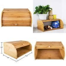 bamboo bread box countertop bread storage bin rolltop breadbox bread boxes