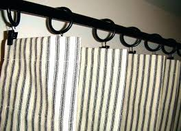 ticking stripe shower curtain ticking shower curtain stripe curtains black and natural vintage ticking stripe shower curtain with ruffles
