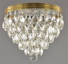 crystal flush mount chandelier italian brass c1950 21 ege sushi flush mount chandelier crystal