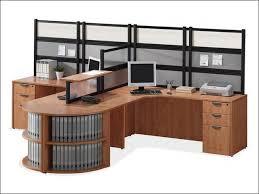 2-Person L-Desk Workstation with Desk Mounted Panels