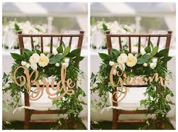 bride and groom chair signs rustic wedding wooden chair sign wood signs photo props wedding decoration kids party items kids party kits from vicki98