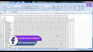 wages register in excel how to calculate attendance and salary with excel complete youtube