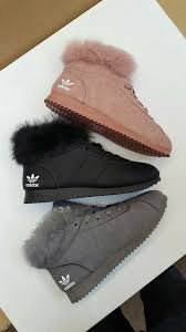adidas with fur. shoes adidas fur sneakers high top winter boots fall with wheretoget