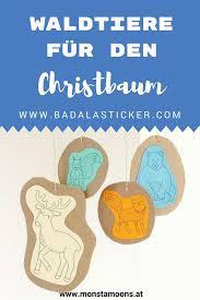 Süße Waldtiere Für Den Christbaum Material Herbst