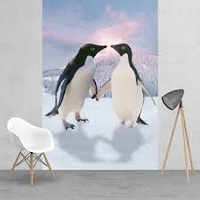 penguin love wallpaper. Contemporary Love Penguins In Love Monty And Mabel Style Feature Wall Wallpaper Mural  158cm  X 232cm With Penguin Love