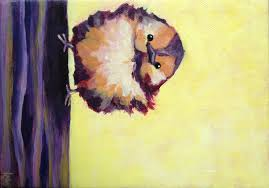 i have been meaning to make an army of birdy minions this little warbler is included in the group he s really small 5 x5 canvas but he makes up
