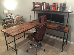 industrial office desks. Diy Industrial Desk Medium Size Of Office Pipe Leg Computer Black Iron And . Desks