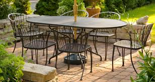 black metal outdoor furniture. Exellent Outdoor Black Metal Patio Furniture Concrete Pavers With Outdoor O