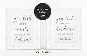 bathroom signs printable. Modren Bathroom Wedding Bathroom Signs Pretty And Handsome  Printable Sign MAM201_09 On Signs Printable