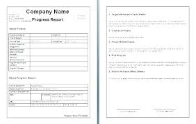 Business Progress Report Template Excel Sample Of T Project