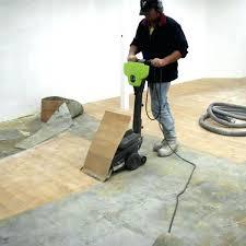 removing vinyl flooring tile adhesive from concrete floor