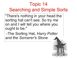 topic searching and simple sorts there s nothing in your head  1 topic 14 searching and simple