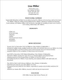 How To Put Babysitting On A Resume Interesting Resume For Babysitting Job
