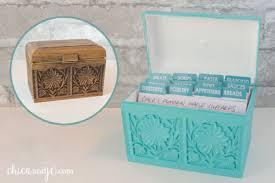 Decorative Recipe Box Vintage recipe box makeover Chica and Jo 14