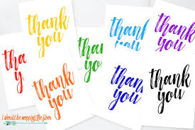 Free Printable Thank You Postcards Free Printable Thank You Cards I Should Be Mopping The Floor