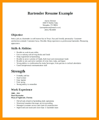 Bartending Resume Template Gorgeous Free Bartender Resume Templates Bartending Resume Templates