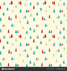 How To Design Gift Wrapping Paper Christmas Trees Background Simple Seamless Vector Texture