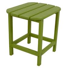 lime patio side table