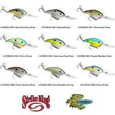 Crankbait Color Chart Strike King Crankbait 6xd Silent Pro Model Deep Diving Any Color Fishing Lure Ebay