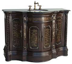 adelina 47 inch vine bathroom vanity light coffee finish