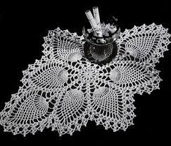 Image result for vintage crochet pineapple doily