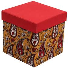 Decorative Holiday Boxes Red Cubical Gift Box in Hardboard Handmade in Bulk at Wholesale 33
