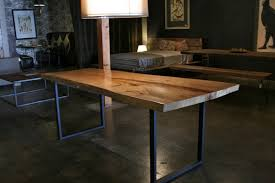 metal kitchen table. Wood Dining Table With Metal Legs Fiinfo To Modern Chair Within Kitchen Tables Decor 5 L