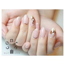 シンプル Nails ピンクゴールドオススメです Conte