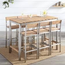 whitewash outdoor furniture. Macon 7-Piece Rectangular Teak Outdoor Bar Table Set - Whitewash Furniture