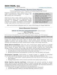 Change Management Resume Examples within Change Management Resume