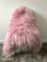 l large blush light baby pink genuine icelandic real sheepskin rug new