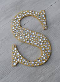 Decorative Letters 9 Sparkle Gold Bling Decorative Wall Letters Wedding