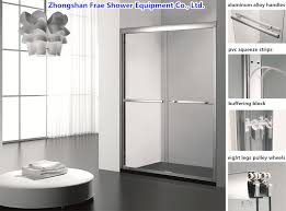 china 2018 double sliding shower door screen shower cabin glass shower door bathroom cabinet glass shower enclosure shower panel 8mm tempered glass door