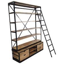 Leiter Regal Metall Holz Leiterregal Treppenregal