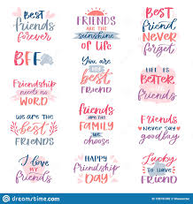 Design With Friends Friend Lettering Vector Friendship Card Typography And