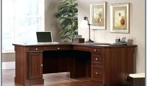 sauder palladia l shaped desk in select cherry by size handphone