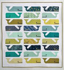 Preppy the Whale Baby Quilt (Freshly Pieced) | Swimming, Modern ... & Preppy the Whale Baby Quilt (Freshly Pieced). Baby Boy Quilt PatternsModern  ... Adamdwight.com