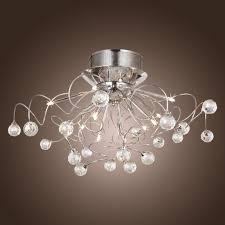unique ceiling lighting. Interior Design: Ceiling Light Unique AlfredWith Crystal Chandelier 11 Lights Chrome Modern - Lighting