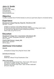 Teen Sample Resume