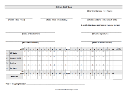 driver trip sheet template drivers daily log template