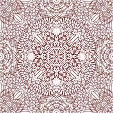 Henna Pattern Stunning Ethnic Doodle Seamless Pattern Mehndi Henna Indian Design For