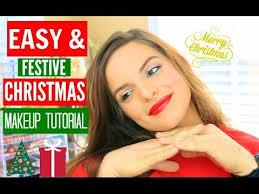easy festive day makeup tutorial casey holmes