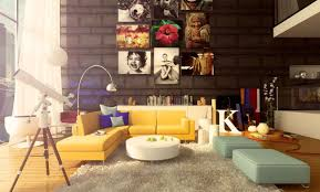 Yellow Black And Red Living Room Living Room Modern Colorful Living Room Decor With Red Painted
