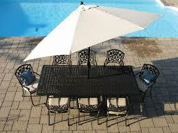 blanca cast aluminum patio tables rect