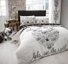 world printed duvet cover fl bedding set all