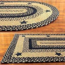 black braided rug black and tan braided rug with stars primitive country oval rectangle black and