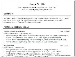 Professional Summary In Resume Resume Professional Summary Examples